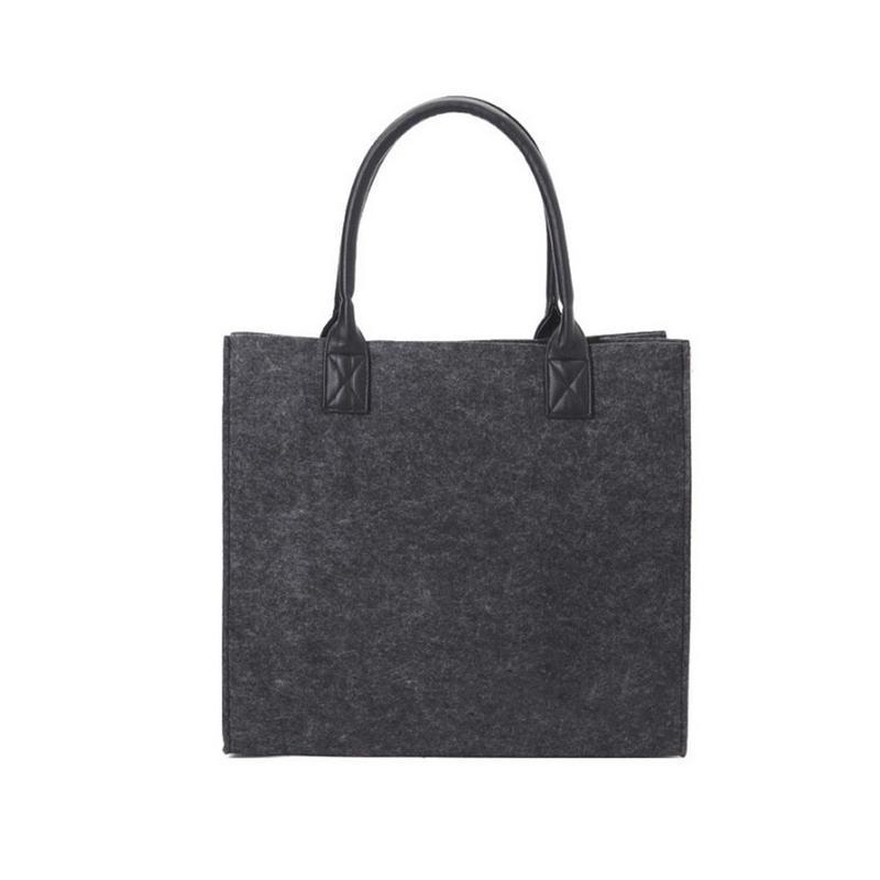 2fe2883d5330 Felt Shopping Shoulder Storage Hand Bag Handbag Shopper Tote Bags  Environment Friendly Bag For Women Ladies Purse Handbags Pouch Handbags  Brands Womens ...