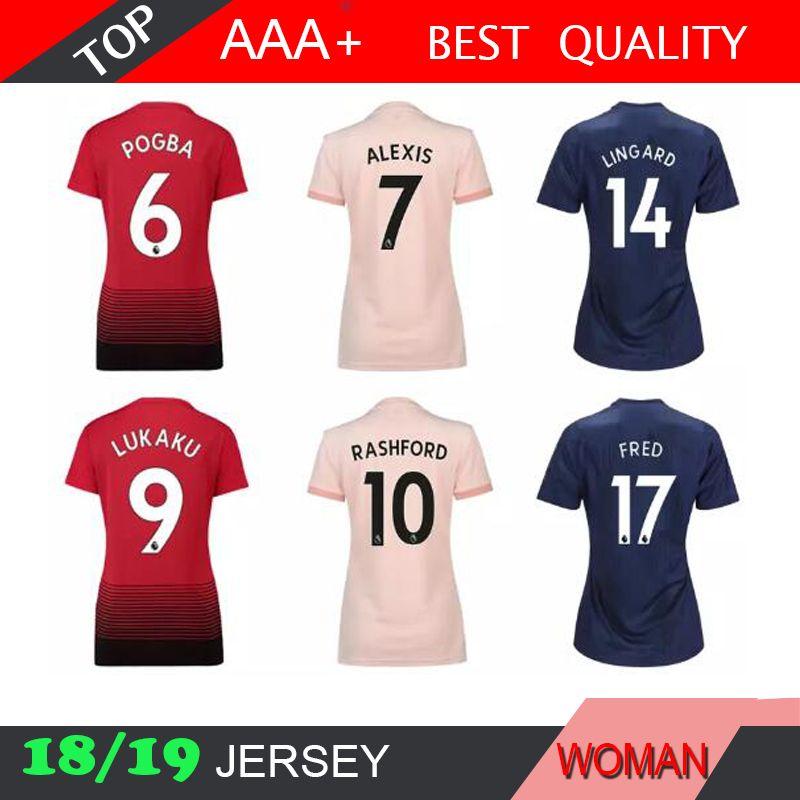 8099873b1c5 Alexis POGBA Soccer Jersey 18 19 HOME AWAY Football Shirt LINDELOF ...