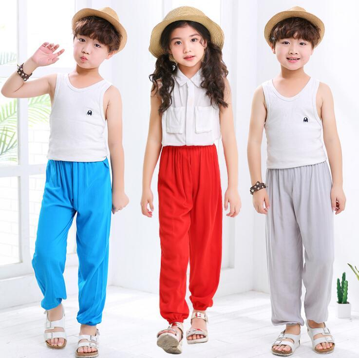 Children Loose Dance Bloomers Trousers Cotton Harem Pants spring summer Girls Boys Kids pants Bohemia clothing For 6 8 10 12