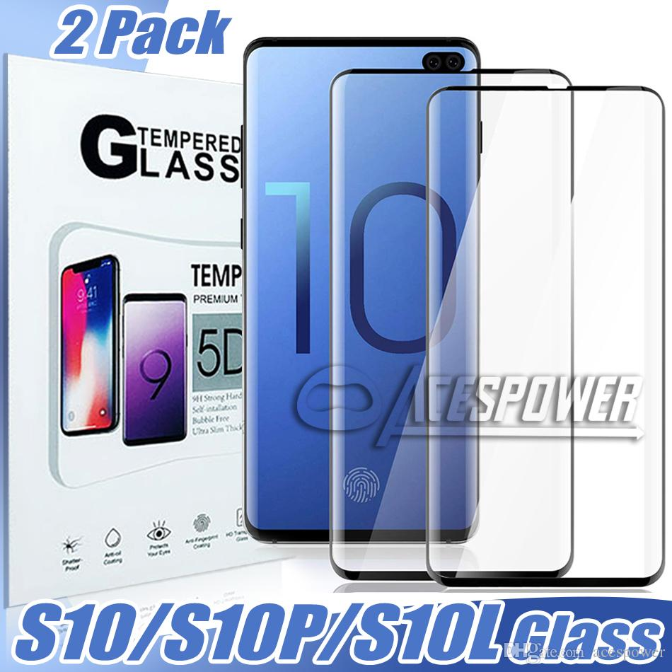 Para Samsung S10 S10E S9 Note 10 8 9 S8 Plus Protector de pantalla 3D Curver Case Friendly Clear para Galaxy Note 8
