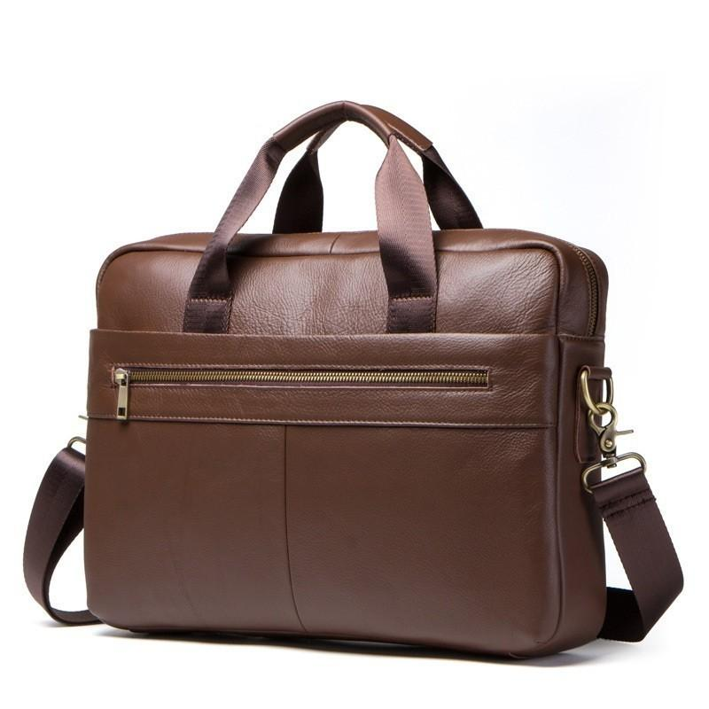 787559747647 2019 Men's Briefcase Work/office Bags for Men Genuine Leather Messenger  Laptop Bag Leather Business Briefcase Bag for Document