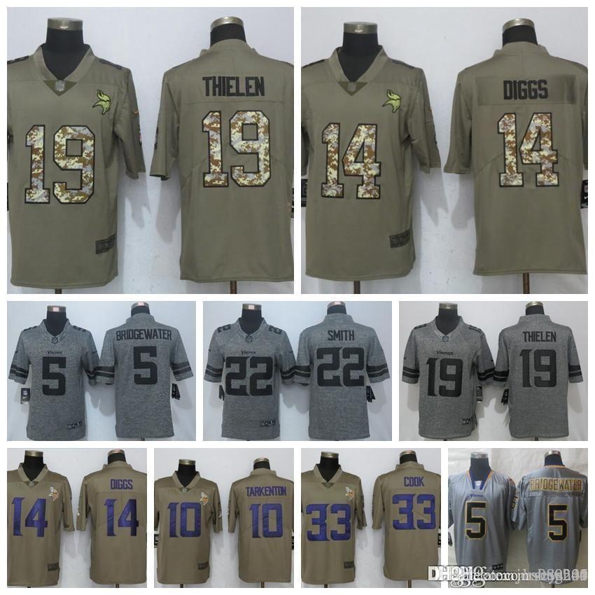 buy online d0776 64b70 Men's Minnesota Vikings Jersey 8 Kirk Cousins 19 Adam Thielen 14 Stefon  Diggs 5 Bridgewater 22 Harrison Smith 33 Cook Jerseys