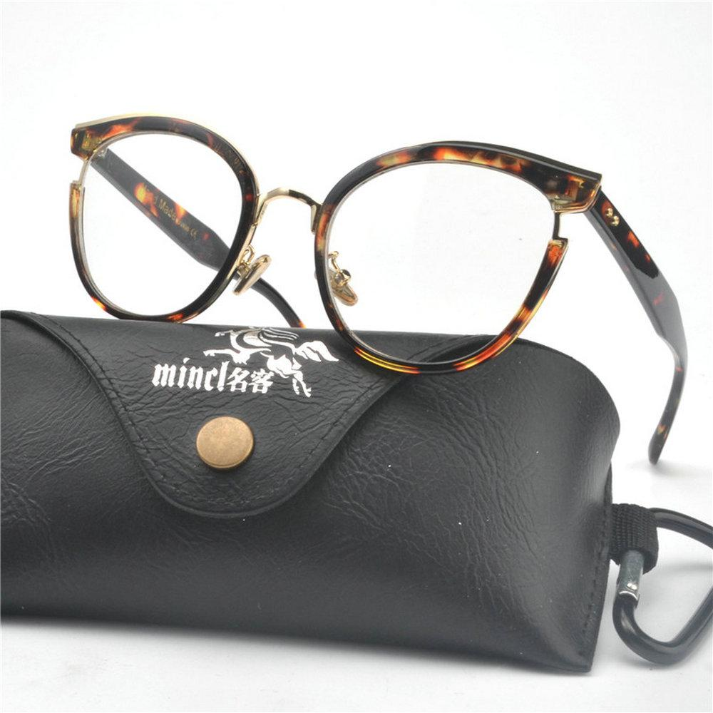 8ff142729dd9 2019 MINCL New Sexy Leopard Cat Myopia Glasses Frame Women 2019 Fashion  Leopard Square Eyeglasses Frames Female Eyewear Clear Lens NX From Byuild