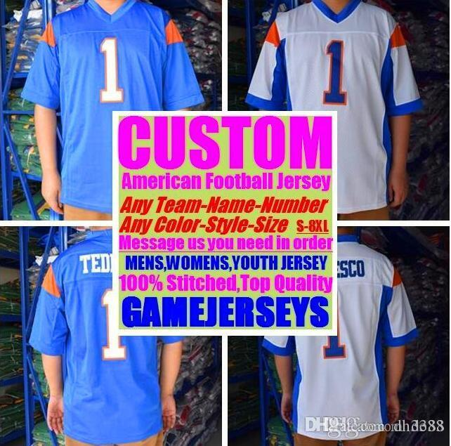 Custom american football jerseys Cleveland Dallas college authentic retro rugby soccer baseball basketball hockey jersey 4xl 5xl 6xl youth