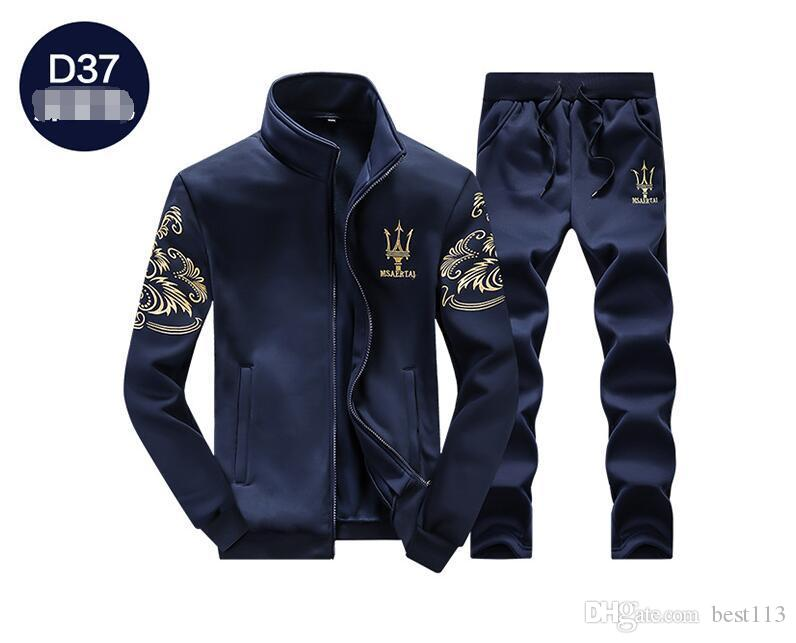 e831cbe9f The spring and autumn new men's sportswear suit long sleeved coat sweater  baseball student male, sports suit jacket trousers