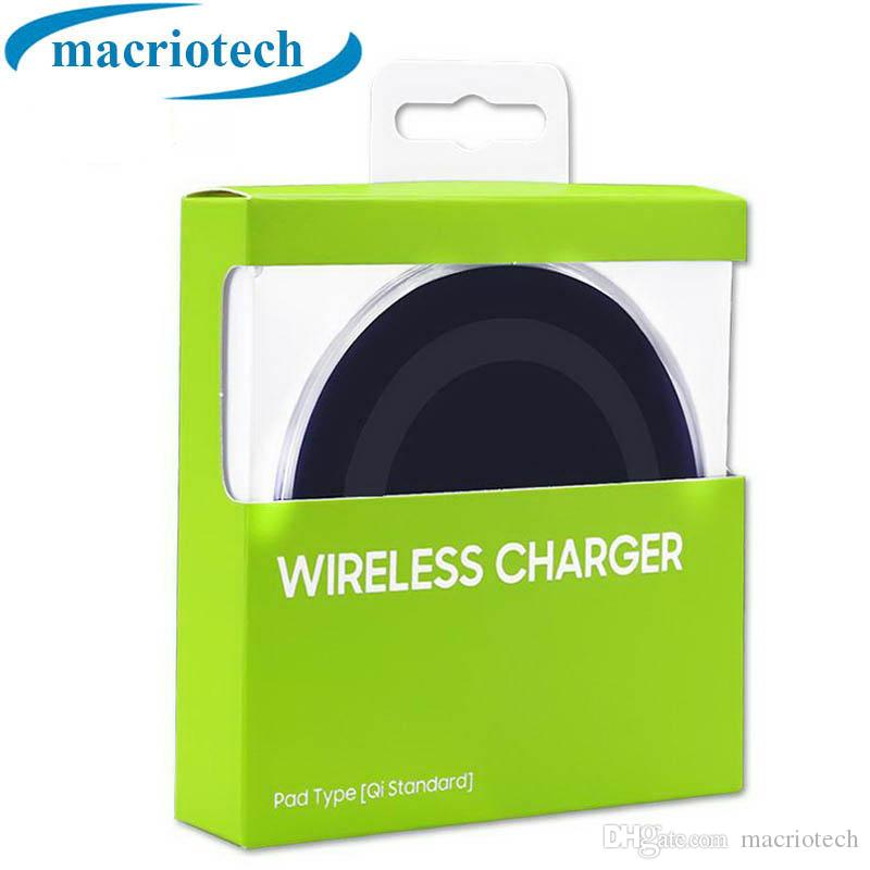 Universal Qi Wireless Charger Newest Charging Adapter Receiver For Samsung Note Galaxy S6 S7 Edge S8 mobile phone with package