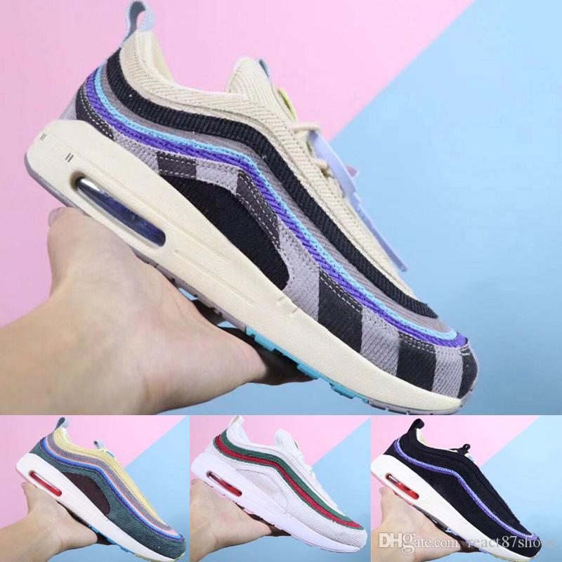 71c60040fd7 Designer Sean Wotherspoon 97 1 Cloth Running Shoes Fashion Men Women ...