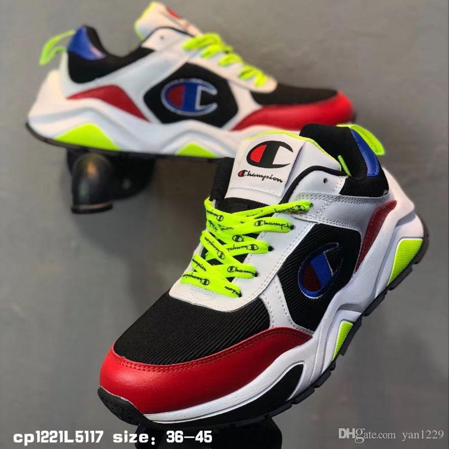 dada5968a80 2019 Champion 93 Eighteen Suede Chenille Running Shoes Men Women Sneakers  White Red Yellow Brown Sports Shoes Man Shoes High Quality From Yan1229