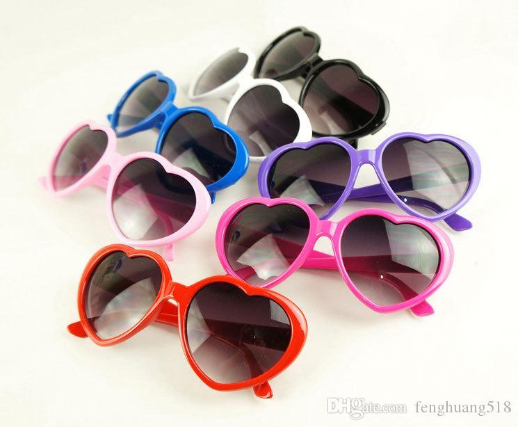óculos de sol de praia bonitas mulheres óculos de sol Heart-shaped sunglasses mens óculos de sol óculos de coração do vintage Quadro Verde