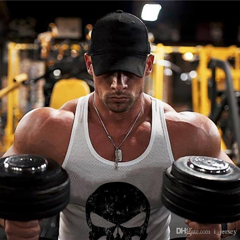 b14ffc0455ef6 2019 Brand Punisher Gyms Clothing Mesh Bodybuilding Singlet Men Tank Top  Workout Sleeveless Shirt Mens Fitness Stringers Tanktop  314772 From  I jersey
