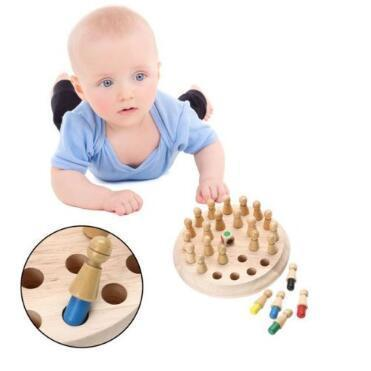 Kids Memory Match Stick Chess Game Toy Kids Montessori Educational Block Toys Children Early Educational Intelligence Toys CCA11126 20pcs