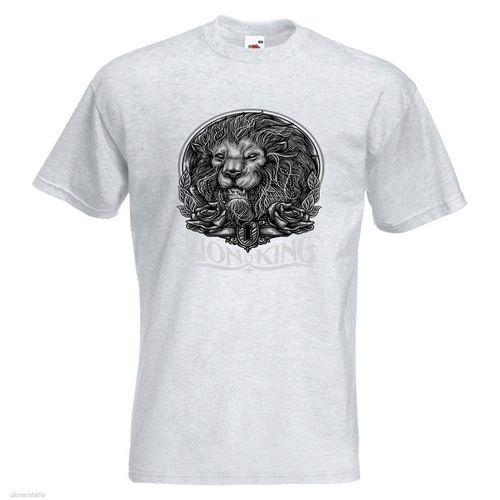 f34a4409d789 Lion King BW Mens PRINTED T SHIRT Black White Animal Short Sleeve Plus Size T  Shirt Colour Jersey Print T Shirt T Shirts Cheap T Shirts Vintage From  Cookcup ...