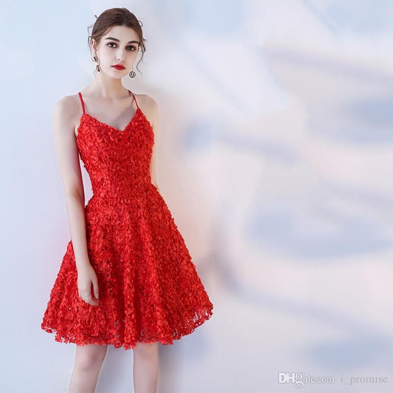 ad997b02f67bd 2019 Cheap Sky Blue Homecoming Dresses Mini sexy Party Dresses V-Neck 3D  Floral Appliques Short Knee Length Party Graduation Cocktail Gowns