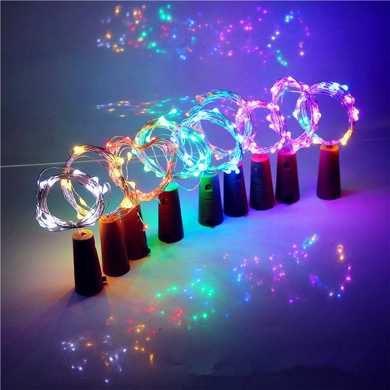1M 10LED Christmas Garland Cork Shaped Bottle Stopper Light LED Copper Wire String Lamp Fairy lights Wedding Party Decoration