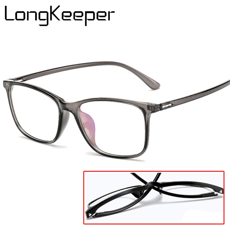0bbce47bd9b 2019 Optical TR90 Eyeglasses Frame Fashion Brand Designer Computer Myopia  Transparent Prescription Glasses Frames For Men Women From Taihangshan