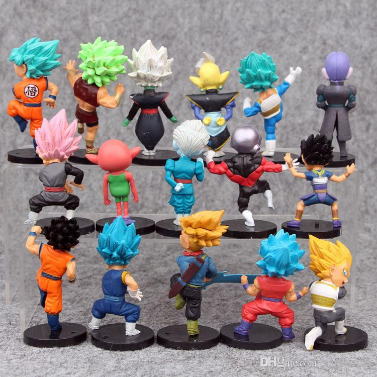 16 Styles New Dragon Ball Z DBZ Kuririn Vegeta Trunks Freeze Son Goku SON Gohan Piccolo Freeza Beerus model Figures Toys
