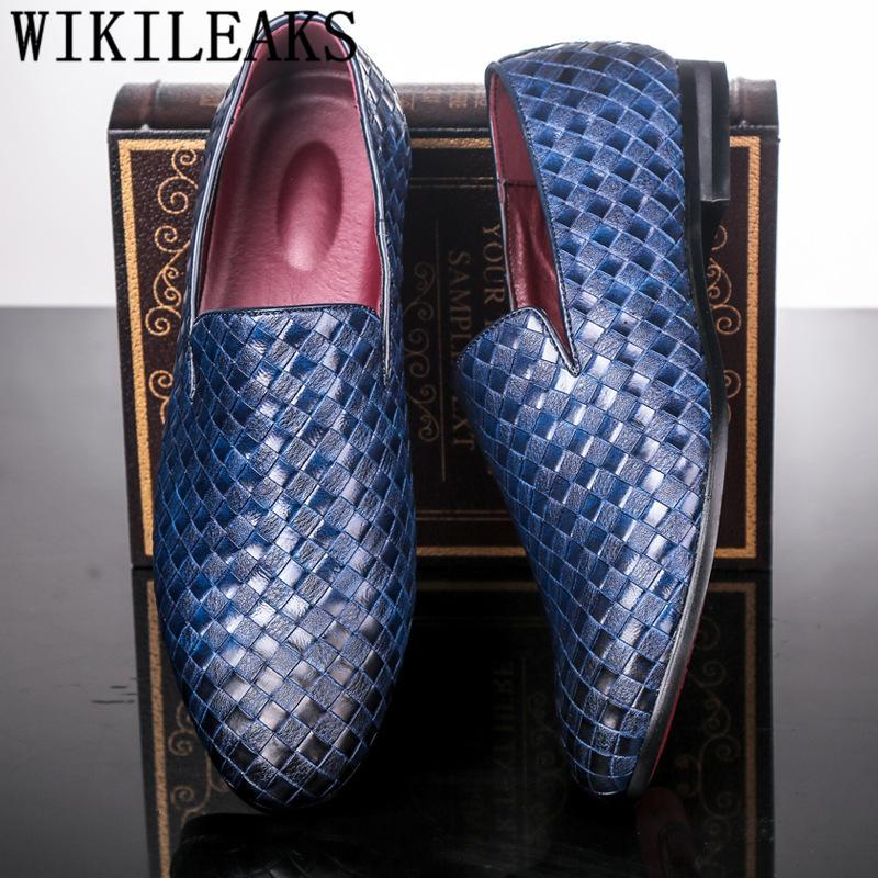 e37e6d62 Compre Italiano Tejido De Cuero Para Hombre Zapatos De Vestir Zapatos  Oxford Para Hombres Mocasines Oficina Coiffeur Hombre Zapatos Zapatos De  Hombre ...