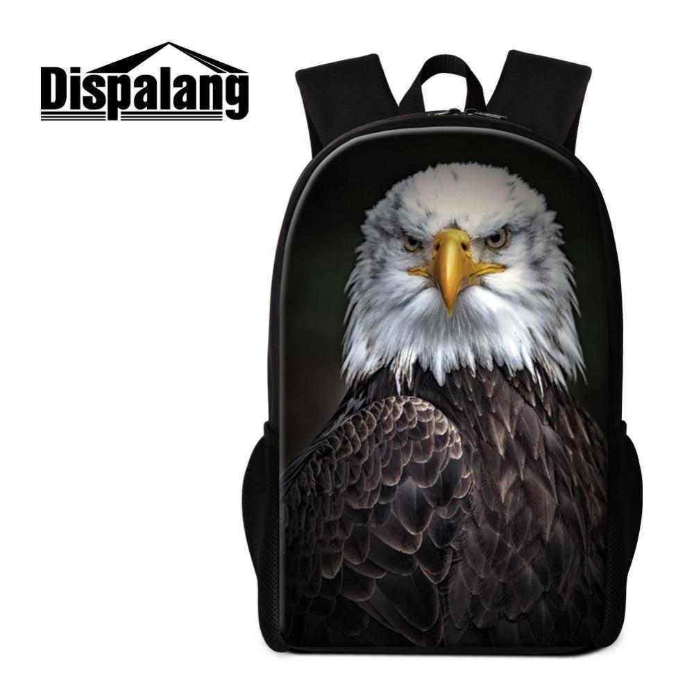 Black Eagle Logo High Fashion Bagpack for Men Cool Animal Prints Vintage  Book Bag for College Students Design You Own Rucksack