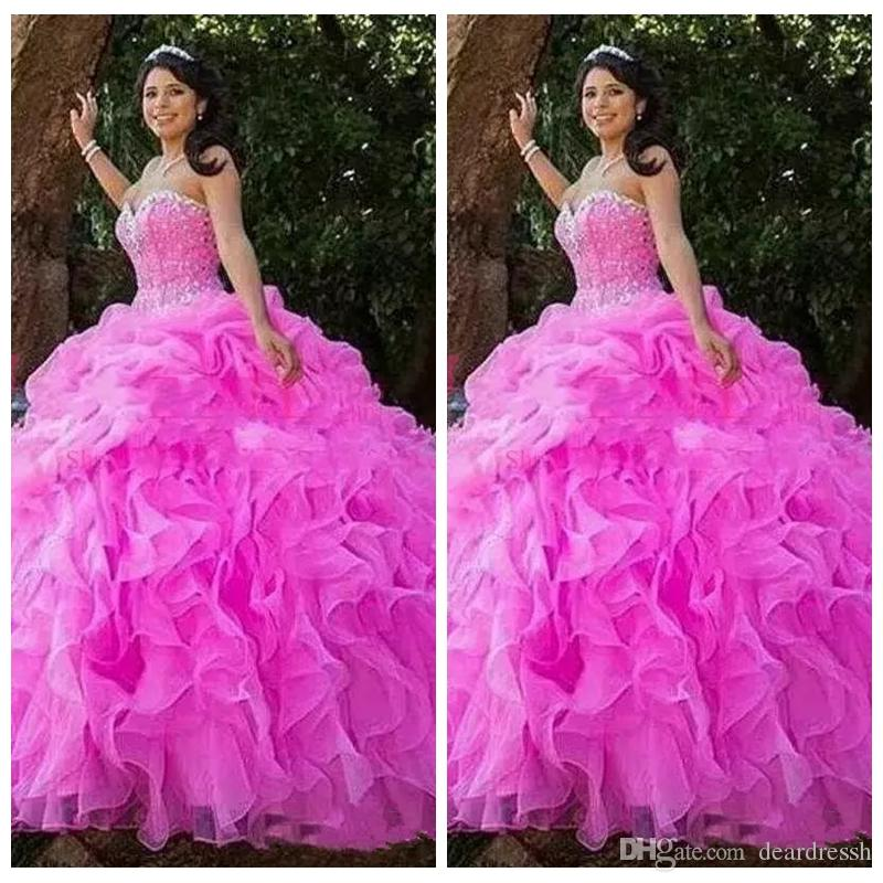 2019 Sweetheart Beaded Ball Gown Quinceanera Dresses Bling Bling