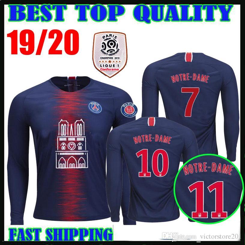 b2c2d473a 2019 18 19 PSG Champions League LONG SLEEVE SOCCER JERSEYS Goalkeeper 2018  2019 Buffon Notre Dame Survetement Gardien MBAPPE Maillot De Foot From ...