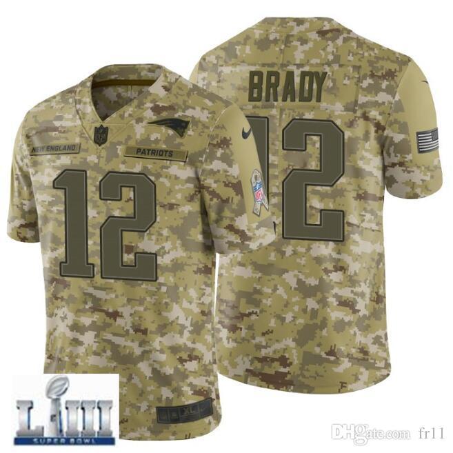 Tom Brady Jersey Super Bowl LIII New England Rob Gronkowski Patriots ... af47538d0