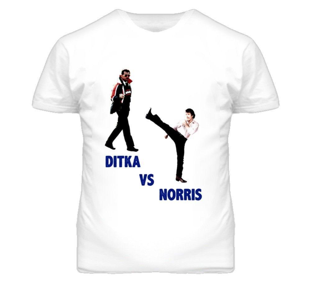 Mike Ditka vs Chuck Norris T-shirt