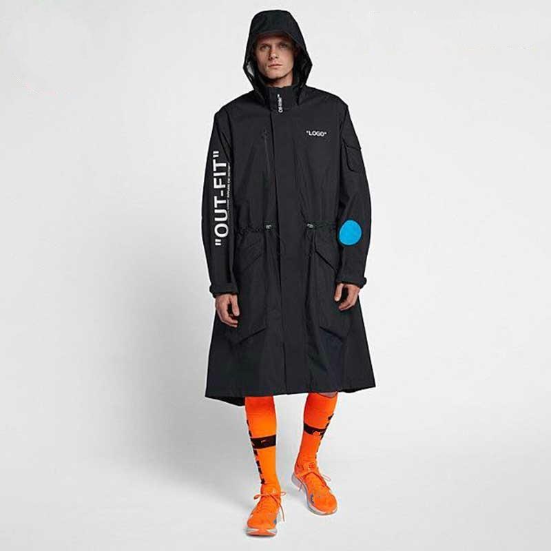33b677f1 18FW C/0 World Cup Mercurial NRG X Jacket LOGO Long Jacket Raincoat Men  Women High Quality Long Windbreaker Coat HFWPJK1155