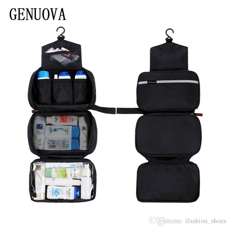 033fa8f3b9 New Hanging Toiletry Bag Travel Toiletry Wash Organizer Kit For Men Women  Cosmetics Make Up Sturdy Hanging Hook Shower Bags  87574 Black Handbags  Luxury ...