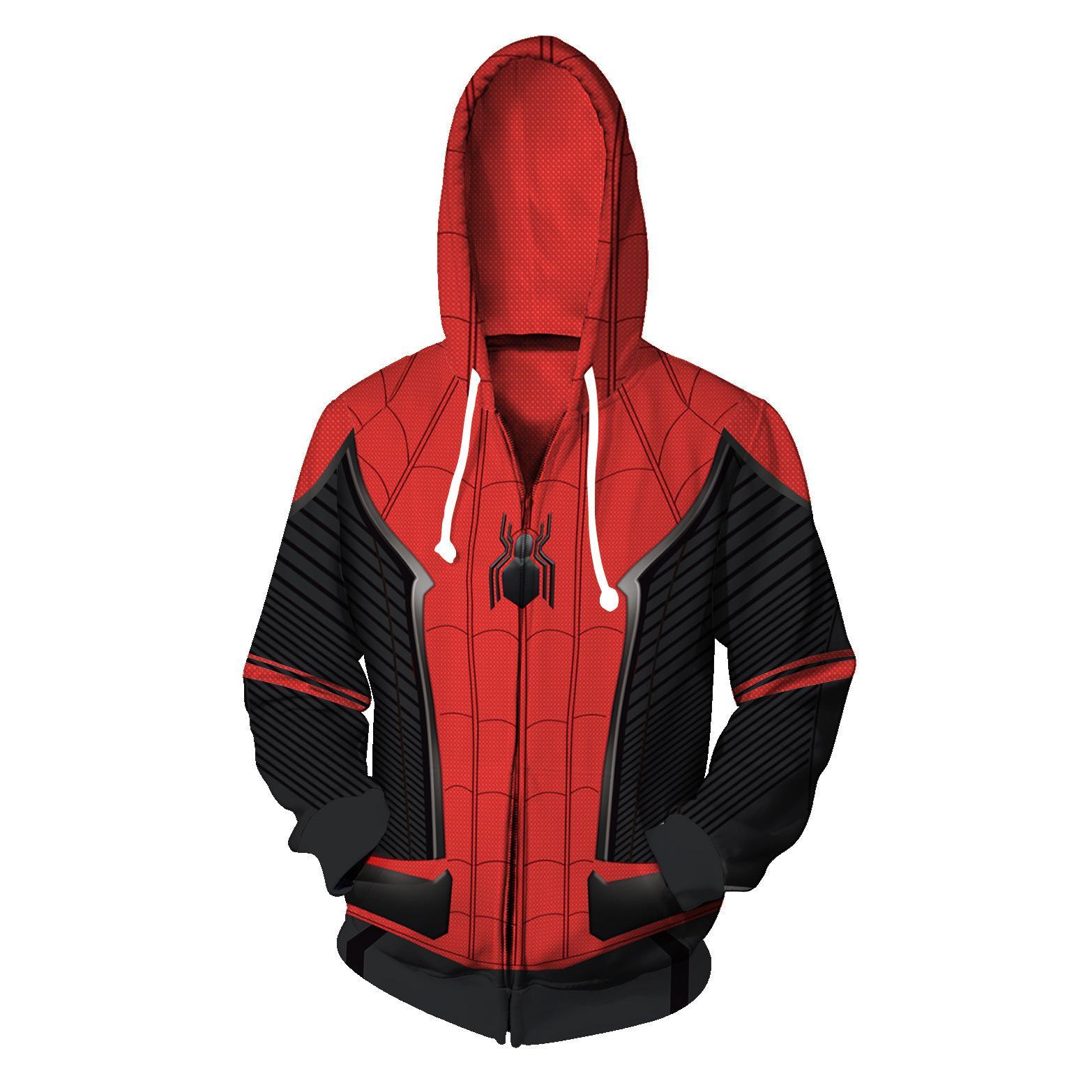 Compre Sudadera Con Capucha De Diseñador Blanca Para Hombre Sudadera  Sudadera Chaquetas Jersey Impresión 3D Digital Spider Man Cardigan Sweater  Sweater A ... ec3069ce2b35f
