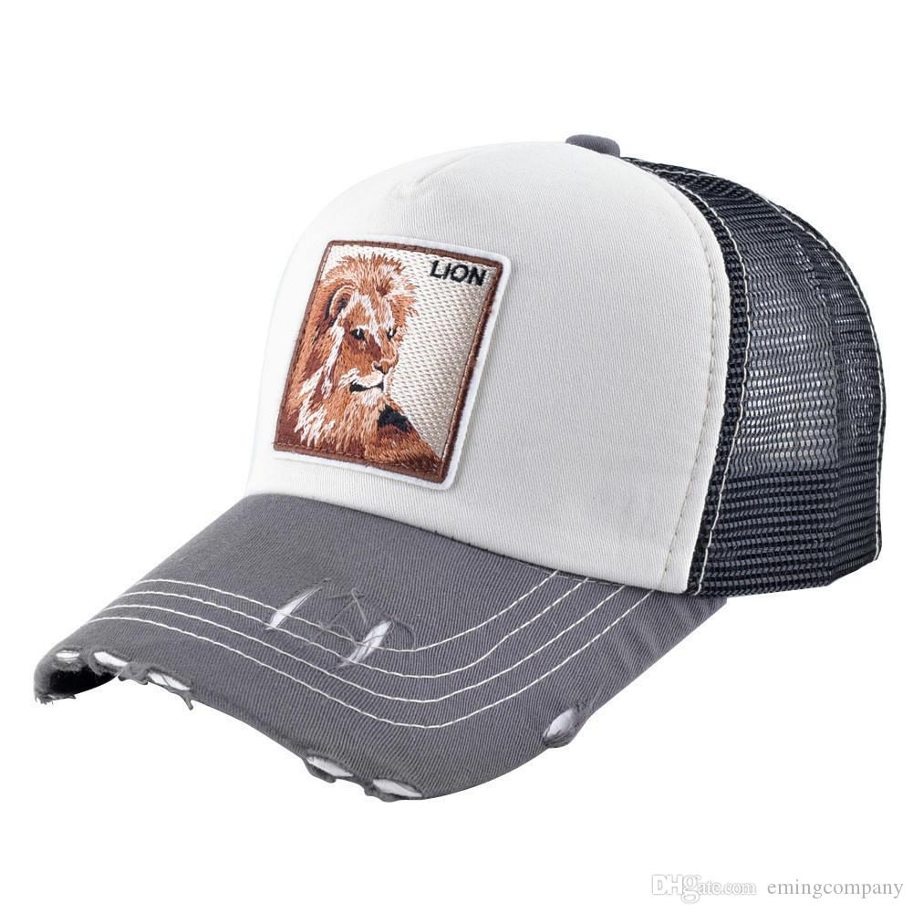 53e9e64c43979 Designer Hats Trucker Cap With Animal Embroidery Luxury Adjustable Sun Hat  Summer Casquette Luxe Sport Caps For Mens And Women Custom Hats Mens Hats  From ...