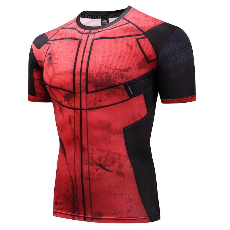 Deadpool T Shirt 3d Printed T Shirts Men Bodybuilding Fitness