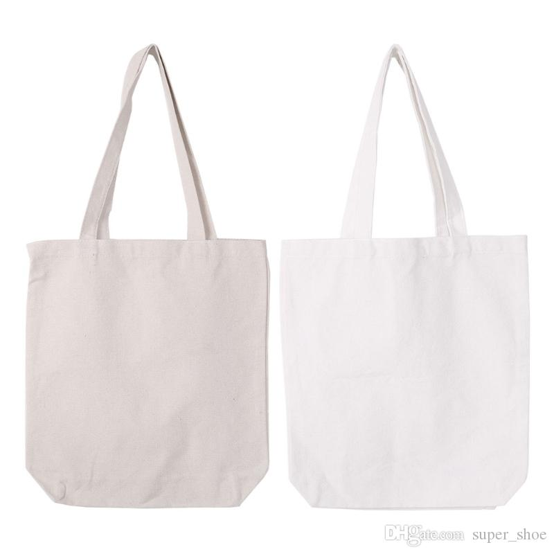 05788c73275a THINKTHENDO DIY Canvas Tote Bag Women Shopper Shopping Bags Reusable  Foldable Blank Handbags for Girl Women #172049