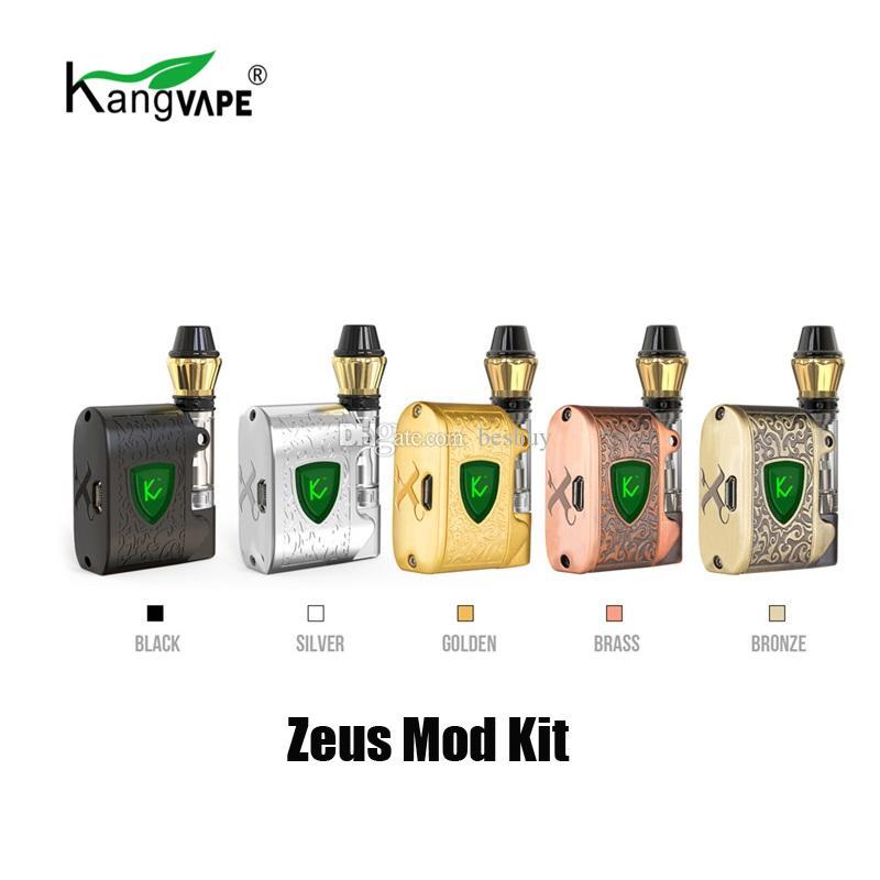 a5d03ecaa Acheter 100% D'origine KangVape Zeus Starter Kit 450mAh Batterie Tension  Réglable Vape Box Mod Pour 510 Fil Épais Chariots D'huile Cartouche  Véritable De ...