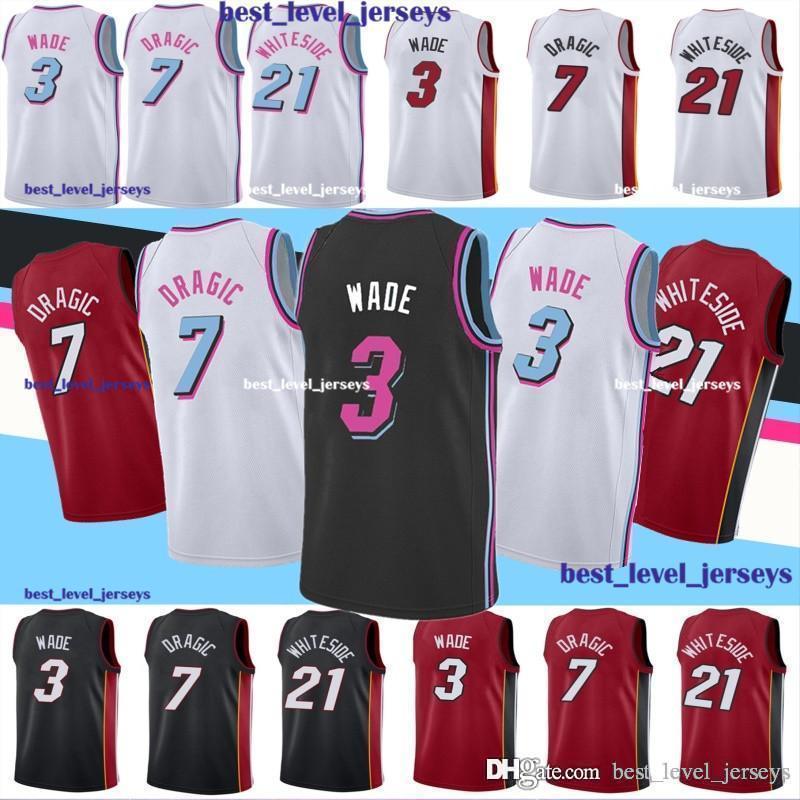huge selection of a2f92 6695b hot Wade 3 Dwyane jersey Wade city jersey wade Goran jerseys 7 Dragic 21  Hassan jersey Whiteside hot sale fast shipping