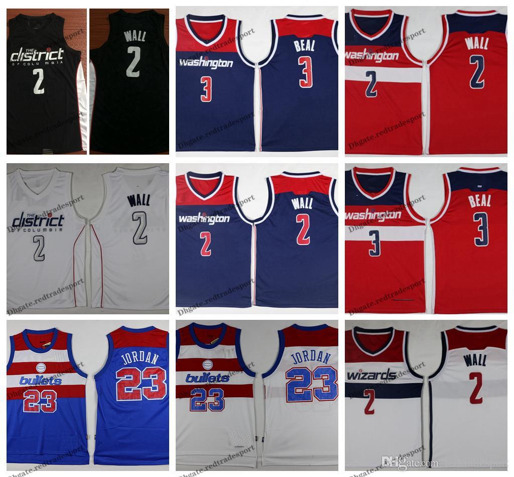 more photos db6a4 d5130 2019 City Washington John Wall 2 Bradley Beal 3 Wizards Edition Basketball  Jerseys Bullets 23 Michael Jodan Stitched Shirts S-XXL