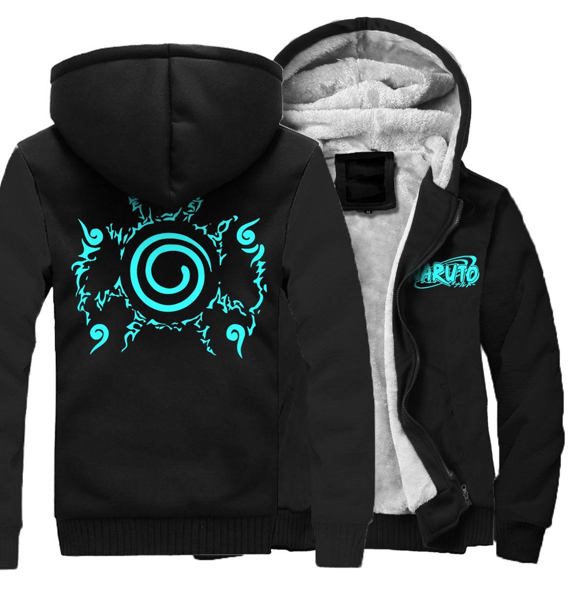 best website 936f7 c5451 2019 heißer Verkauf Hoodies Männer Modemarke Kleidung Dicke Sweatshirt  Druck Anime Naruto Cosplay Lässige Hoody Sweatshirts Männer Kpop