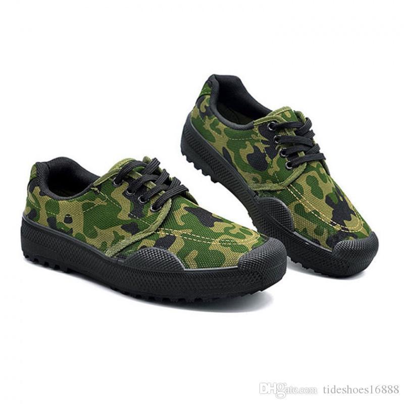 804fa8cb7fa Compre Toda La Temporada Botas Del Ejército Para Hombre Zapatos De Lona Hombre  Camuflaje Trabajo Zapatos De Seguridad Táctico Militar Botas Del Desierto  ...