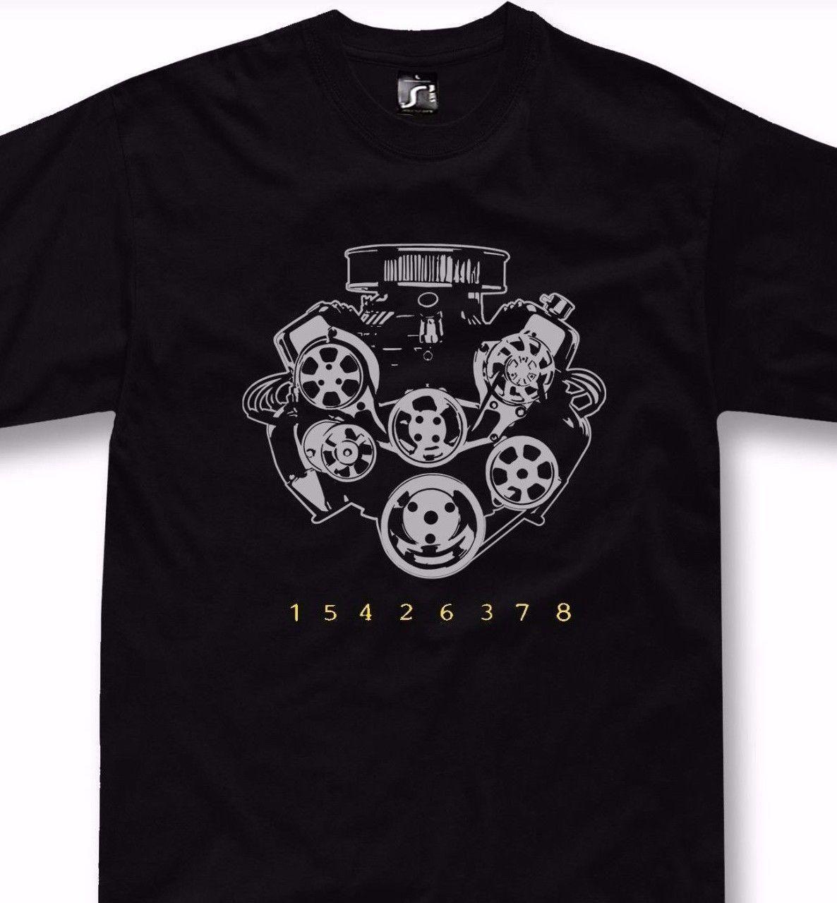 Mens Designer T Shirts Shirt V8 Engine T Shirt Big Block Chevrolet