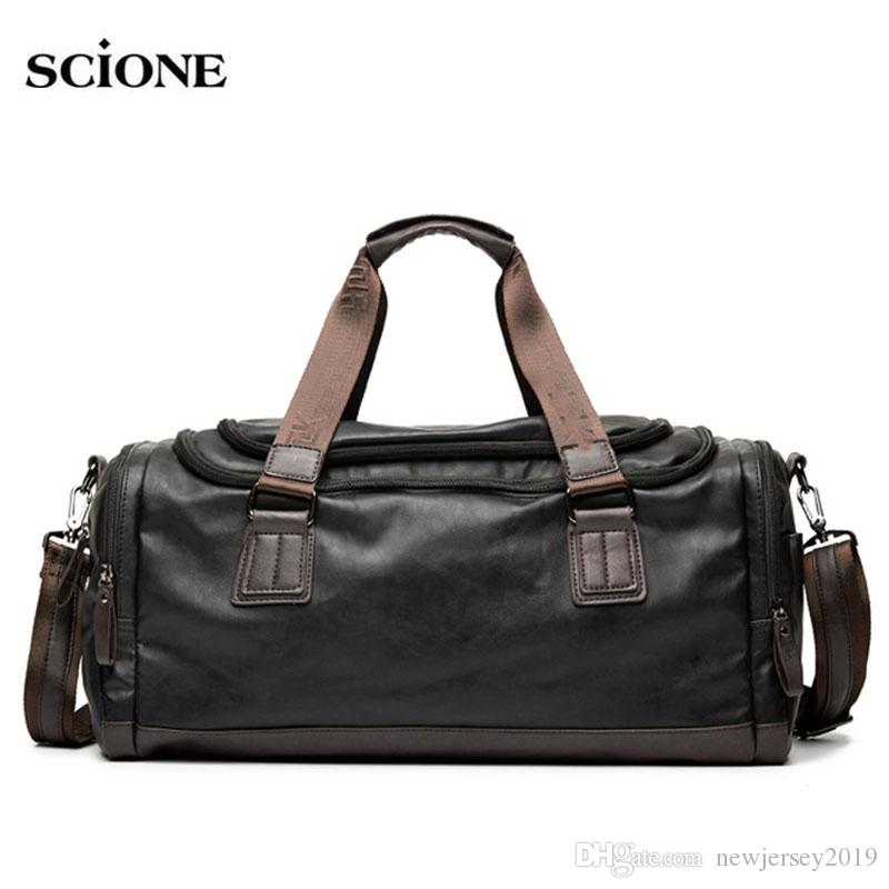 f45635c46d4 2019 2018 Men S Leather Gym Bag Sports Bags Duffel Travel Luggage Handbags  For Fitness Men Trip Carry On Sac De Sport Tas XA643WA  109995 From  Newjersey2019 ...