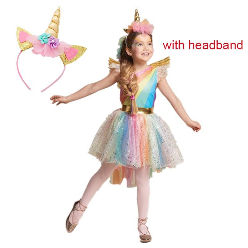 Halloween Party Kleding.Meisjes Kerst Jurk Kleurrijke Eenhoorn Baby Halloween Kostuums Kids Party Carnaval Fancy Jurken Kinderen Kleding Voor 3 5 6 8y