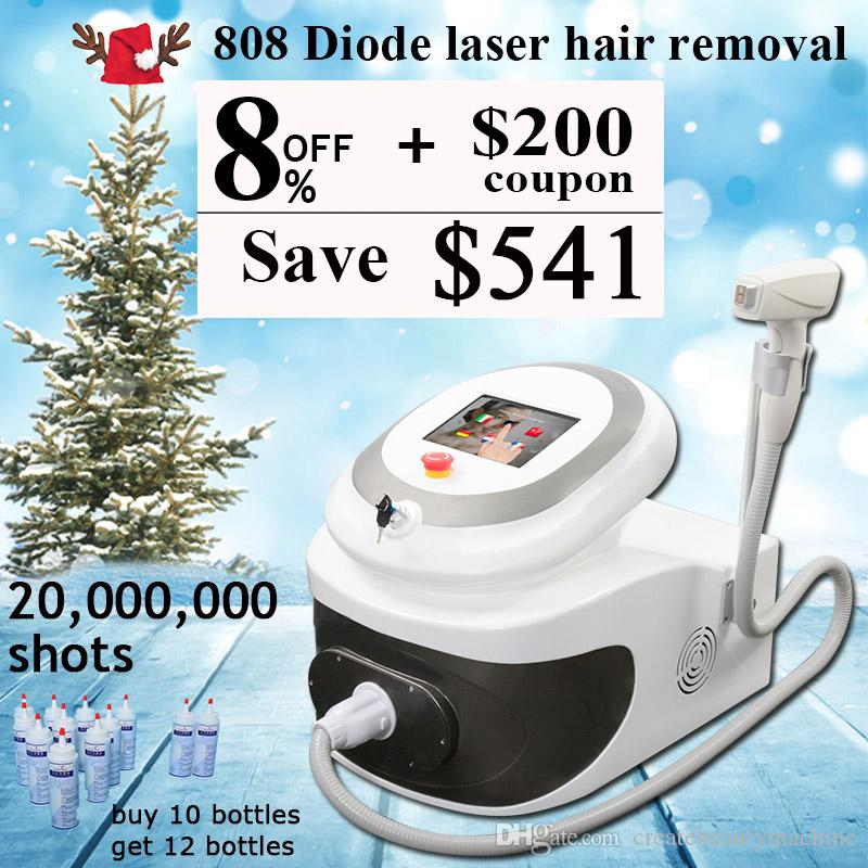 laser hair removal machine 20 millions shoots 808nm diode laser permanent hair removal skin rejuvenation home use