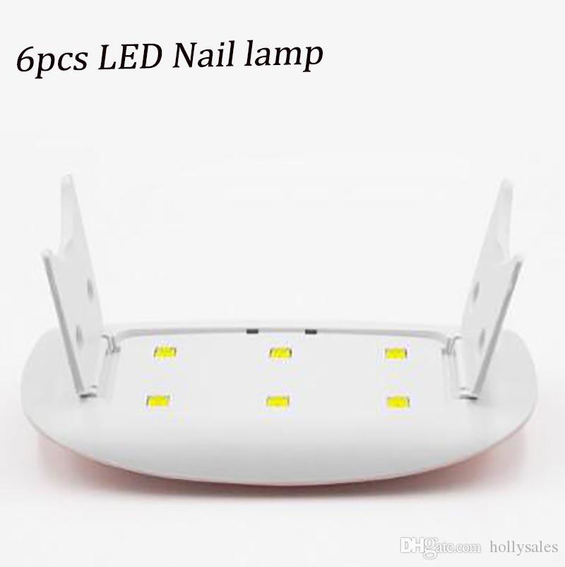6W مسمار مجفف الصمام الأشعة فوق البنفسجية مصابيح مايكرو USB جل ورنيش آلة المعالجة للاستخدام المنزلي فن الأظافر مصابيح مسمار أدوات