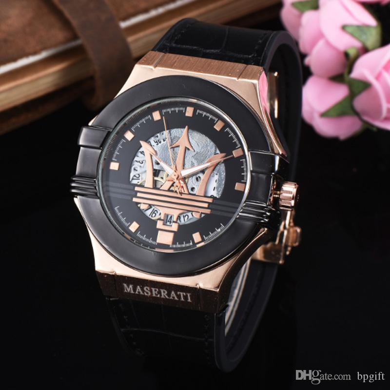 2019 Top Fashion Mens Aaa Luxury Brand Watches Quartz Wristwatch Rubber Band Hot Sale Good Price