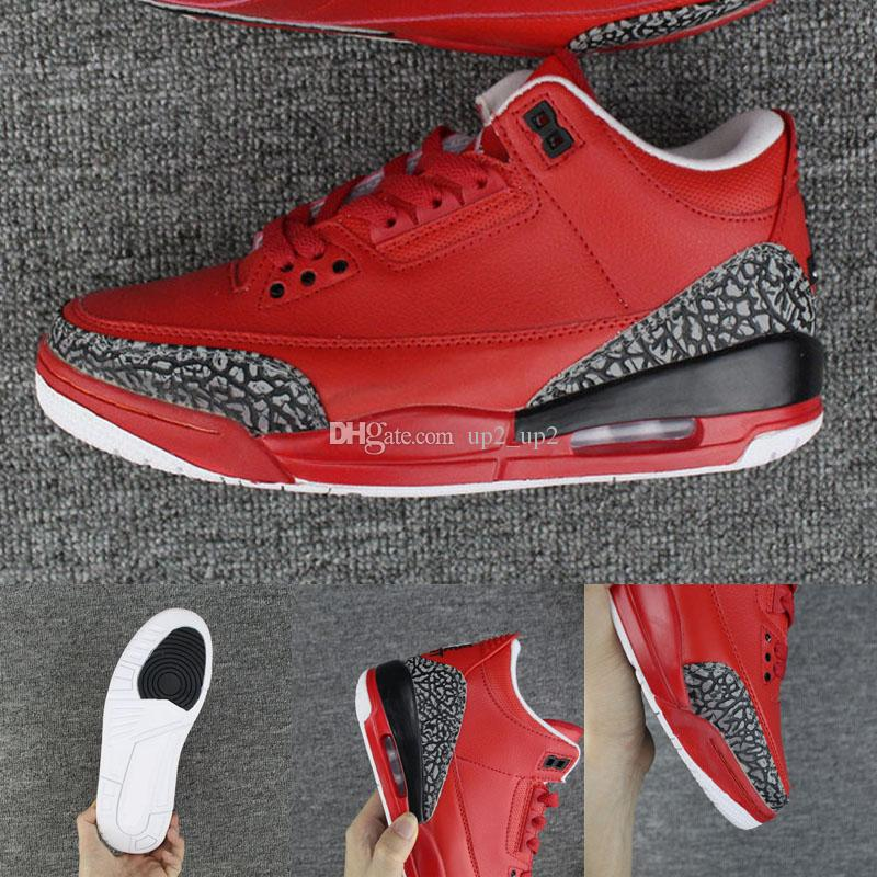 buy online 8d2d2 caa59 2019 New Jumpman 3 x DJ Khaled Grateful Mens Outdoor shoes fire red high  quality 3s Mens Sneakers sports shoes eur 40-47