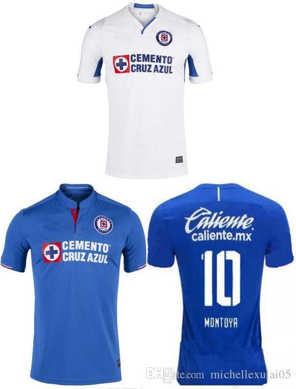 3aecaca244b 19 20 Cruz Azul home blue soccer jerseys men's short sleeve football shirts  Adult's a+++ thai quality away white outdoor sports jersey tops