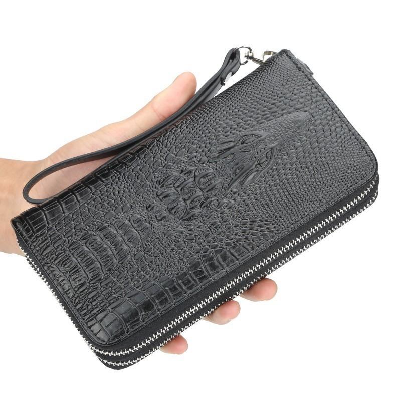 a7babd164fb7 2019 Hot Fashion Wallets For Men With Coin Pocket Wallet ID Card Holder  Purse Clutch Double Zipper Men Wallet With Coin Bag Gift Crocodile Wallet  Bottega ...