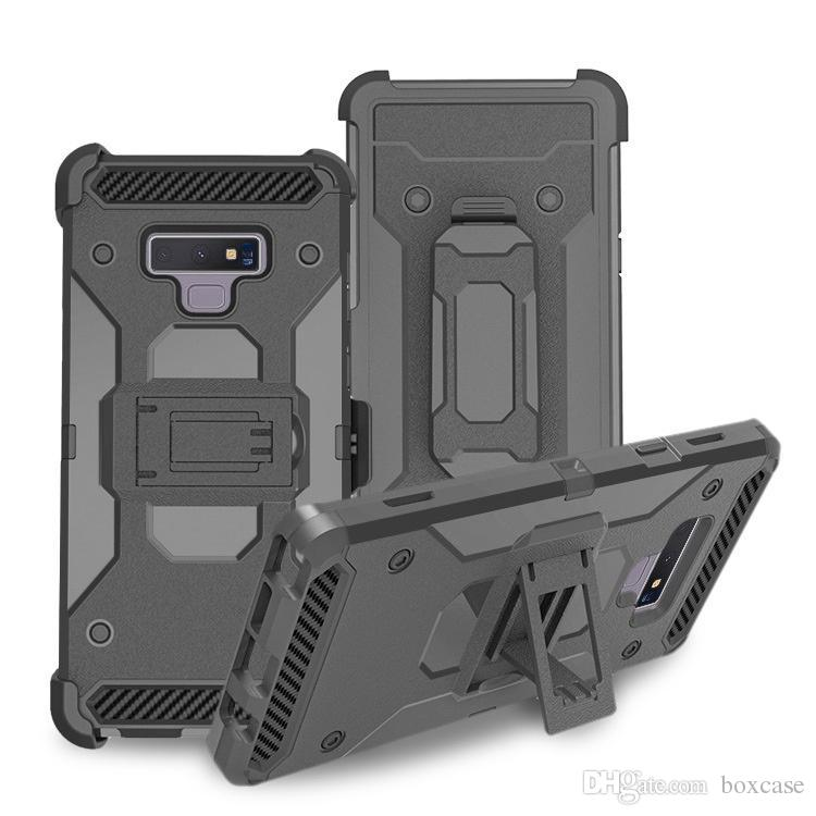 Tough Armor Defender Rugged Case for Samsung Galaxy S10 S10e S9 S8 Plus Note 8 9 Shockproof Cover w Belt Clip/Kickstand