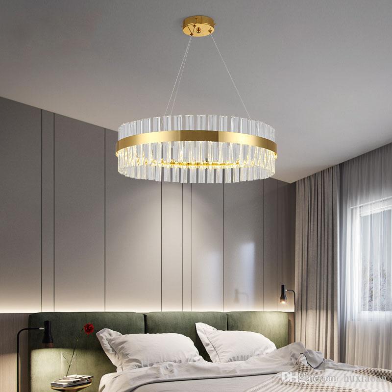2019 moderne Kristallleuchter Für Wohnzimmer Gold LED Lüster De Cristal  Dekoration Hängen Leuchte