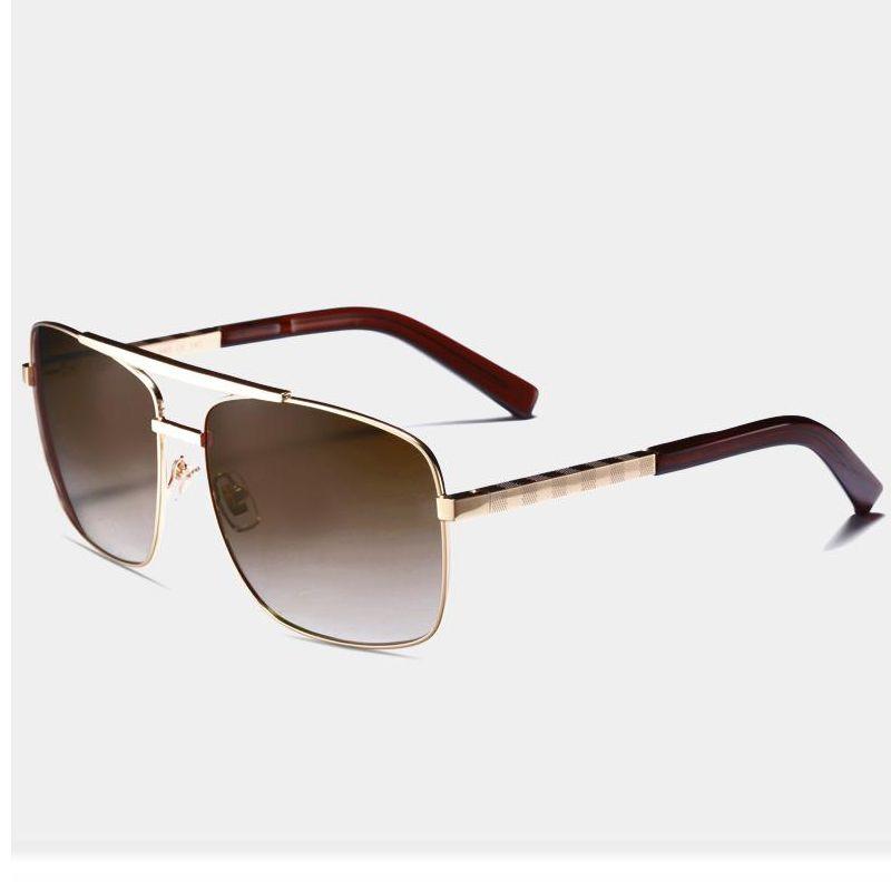 52b906786bf Luxury Men Brand Designer Sunglasses 0259 Attitude Sunglass Gold ...
