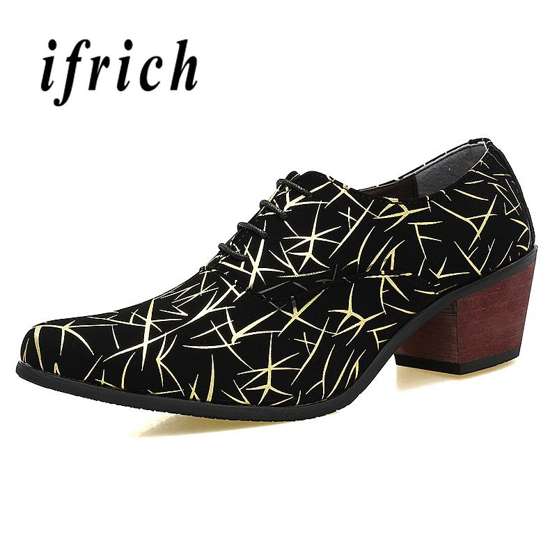Compre Hombres De La Boda Zapatos Puntiagudos Aumento De La Altura De Los Hombres  Zapatos De Tacones Altos Social Cómodo Para La Moda De Plata Para Hombre ... fbe3c7e8b8a